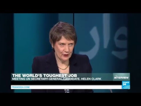 Helen Clark: 'I'm the best person for the job of UN Secretary-General'