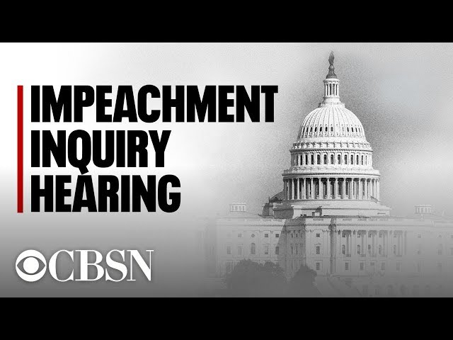 Trump Impeachment hearings live: Public testimonies from Bill Taylor and George Kent