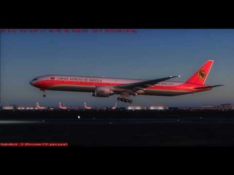 FSX 777-3M2ER-SBGR(GRU)-FNLU(LAD) Landig in luanda