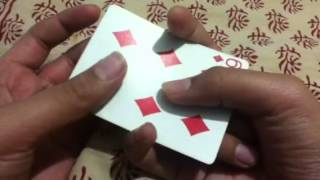 How to make a card disappear using only your hands