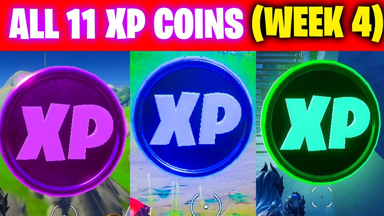 All XP COINS LOCATIONS IN FORTNITE SEASON 3 Chapter 2 (WEEK 4)