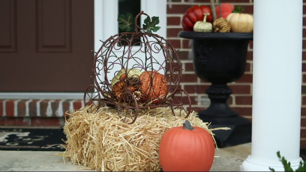 Plow And Hearth Illuminated Metal Pumpkin Carriage With Timer On Qvc Youtube