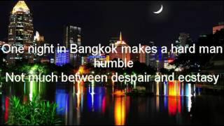 Murray Head - One night in Bangkok (Lyrics)