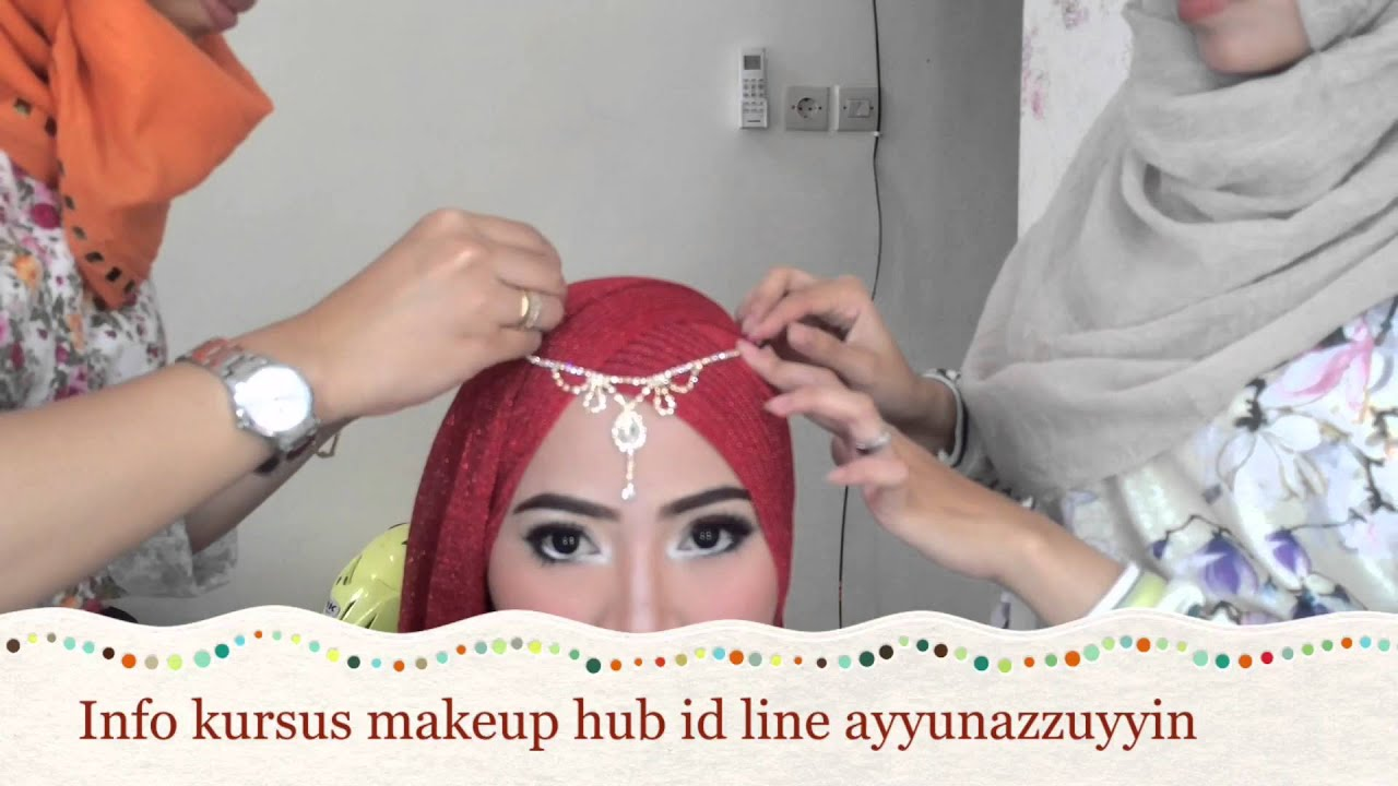 Tutorial Hijab Pesta Simple Kursus Makeup Ayyun YouTube