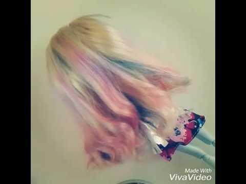 Puppe Haare Färben