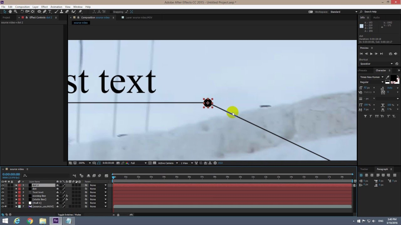 How To Make The End Of A Line Follow An Object (adobe After Effects  Animation)