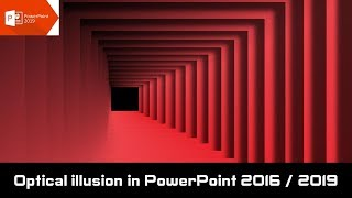 Optical illusion Animated Background Animation in PowerPoint 2016 / 2019
