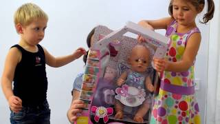 Нова Бебі Бон: Розпакування та огляд Ляльки Бебі Борн з Англії. Чудеса почалися! Відео для дітей