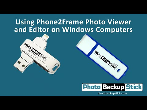 <strong>Viewing & Editing Photos Using the Phone2Frame Editor for Windows</strong><br>How to view and edit photos that have been backed up to your Photo Backup Stick using the Phone2Frame editor.