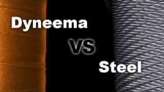 Dyneema rope VS steel rope - strength test - break test