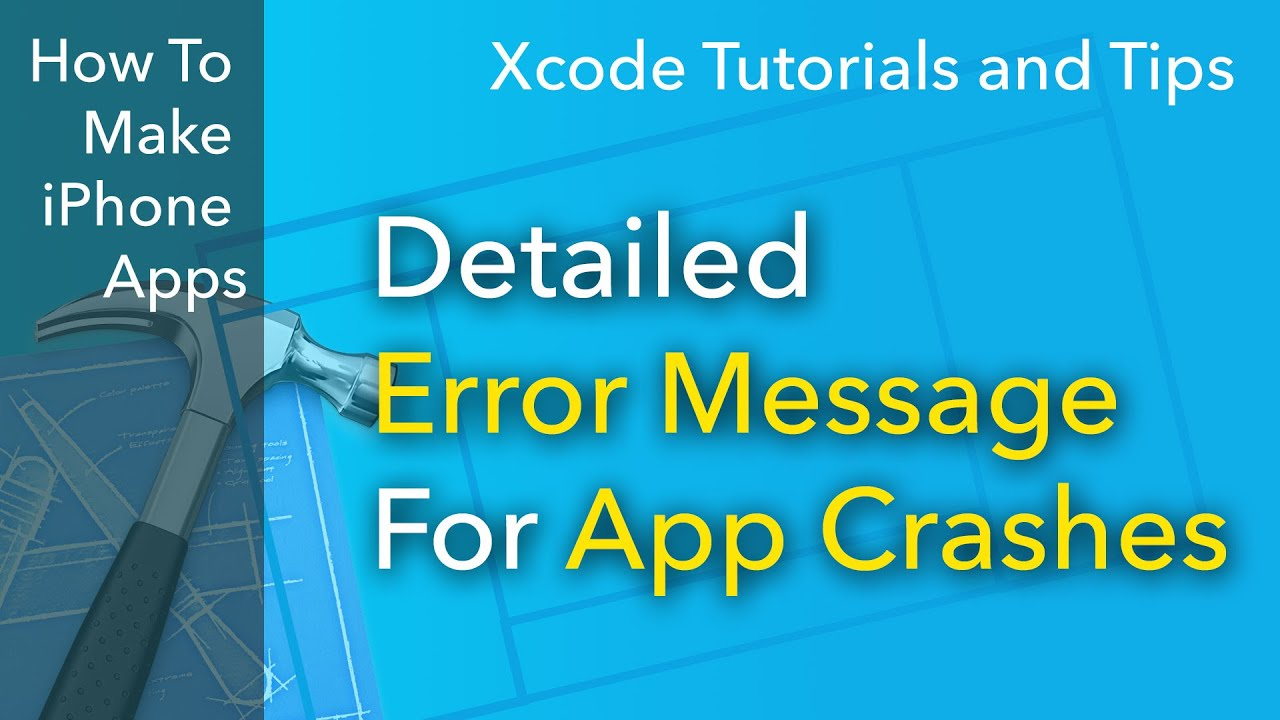 Xcode Tips - How to Find The Detailed Error Message For Your App Crash