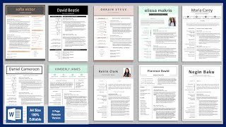 Word Resume Templates Free Download Resume 2020 Resume Cv Templates Free Powerpoint Crafts Youtube