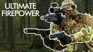 GUY brings THREE OVERPOWERED AIRSOFT GUNS to the Field and DESTROYS the $#!? out of everybody