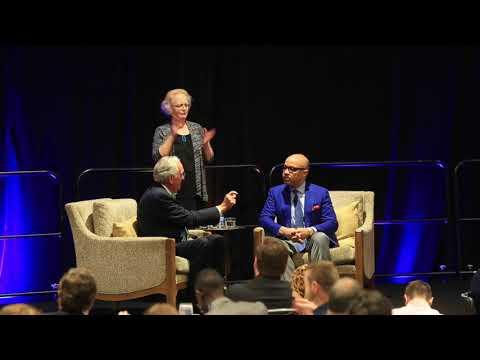 Sen. Tom Harkin interviews Ford Foundation President Darren Walker