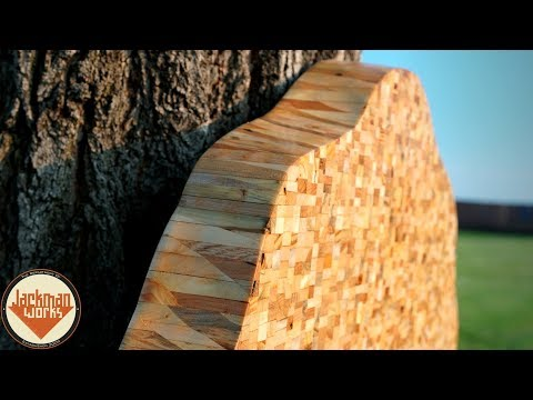 """""""Live Edge"""" Pallet Wood Slab and Maple Cookie Wall Art"""