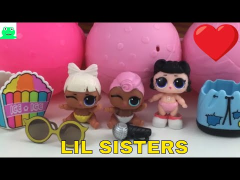 LOL Surprise Lil Sisters Series 3 LIL GRUNGE GRRRL LIL SHORT STOP LIL SPF QT dolls | Jelly Frog Toys