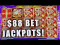 $88 BET JACKPOTS! ★ 5 TREASURES SLOT MACHINE HIGH LIMIT ...