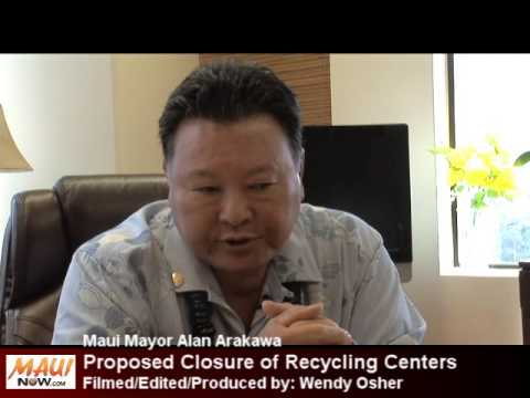 Maui Mayor Proposes Closure of County Recycling Centers