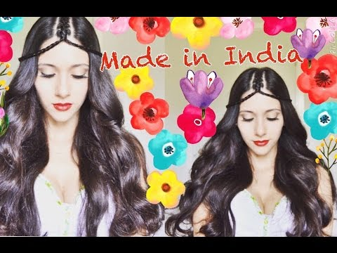 MADE IN INDIA .ПРИЧЕСКА ТИКА ИЗ ВОЛОС.  TIKKA from hair. HAIRSTYLE.