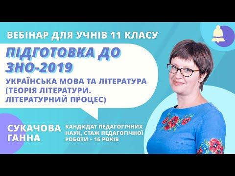 Підготовка до ЗНО-2019: Українська мова та література (Теорія літератури. Літературний процес)