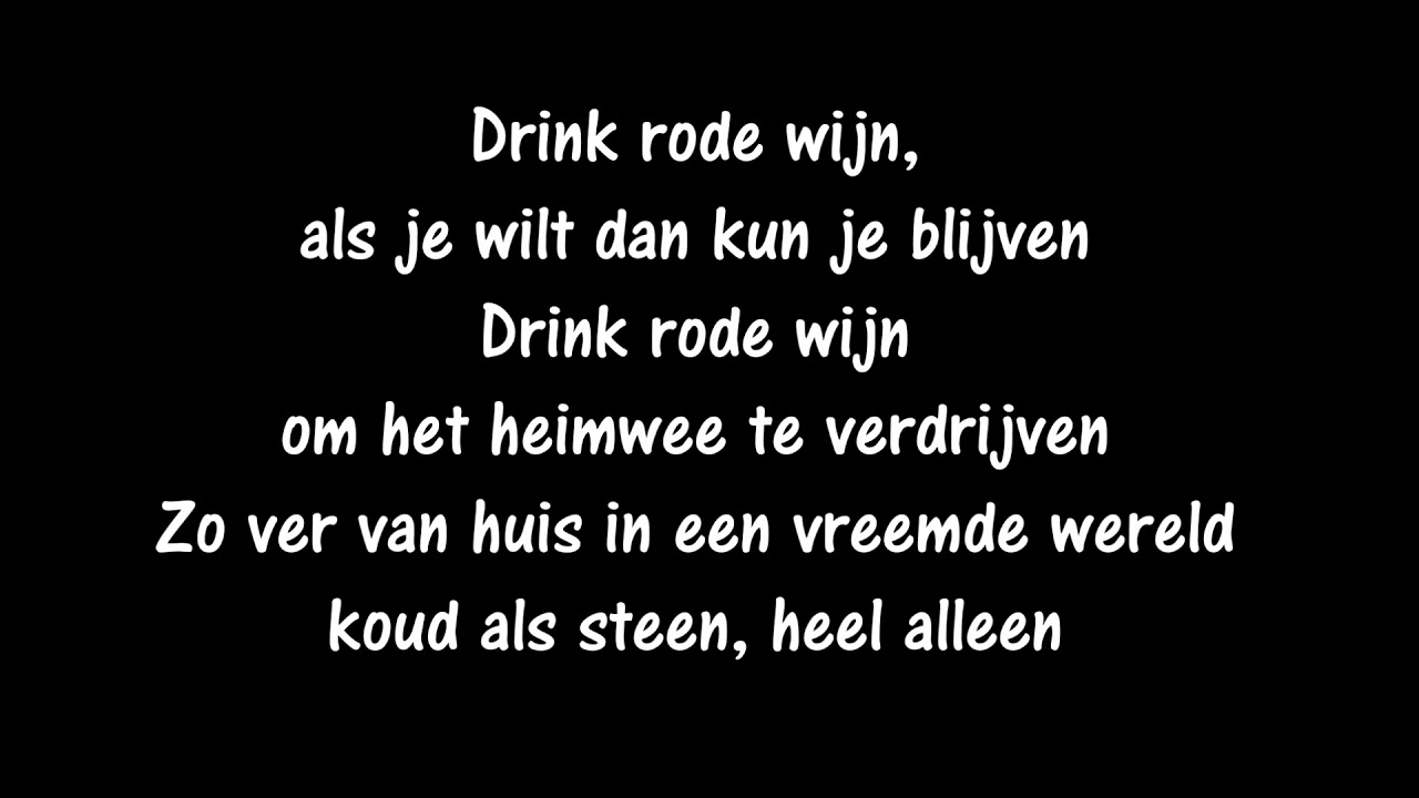 drink rode wijn