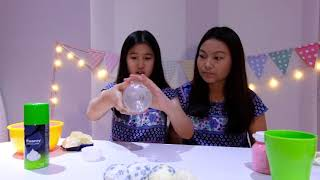 DIY SLIME BALLOON POPPING SLIME :: Jessica Effendy ft  Adel Ivanka
