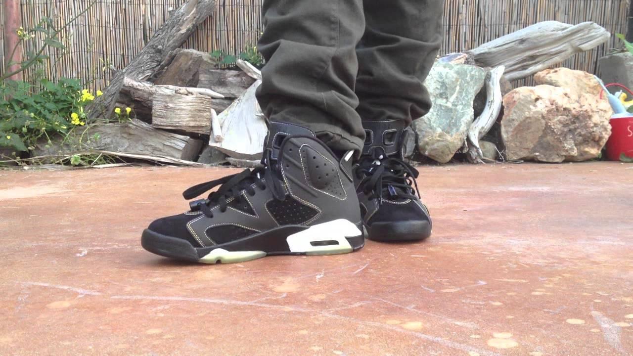 e64808e57eb6 jordan 6 lakers on feet - YouTube