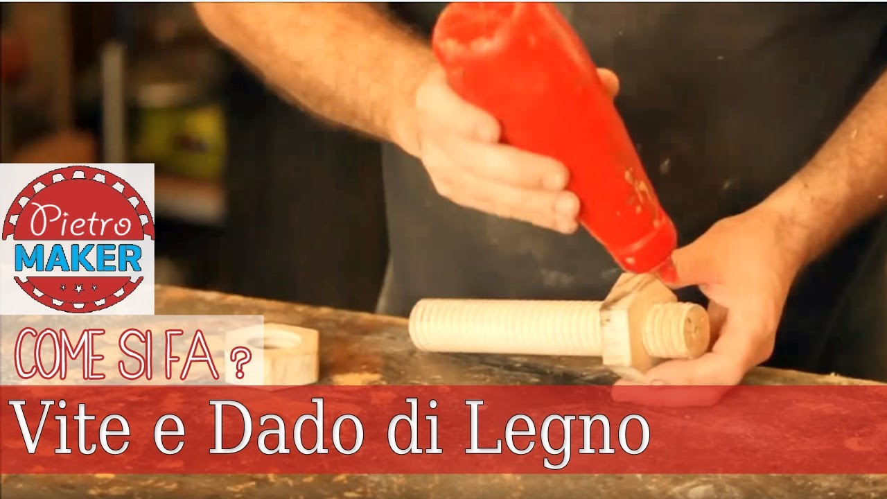 Fai da te come fare una vite e dado di legno youtube for Youtube fai da te legno