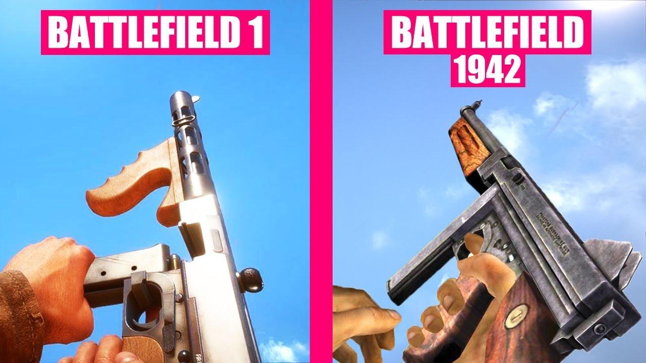 BATTLEFIELD 1 Gun Sounds vs Battlefield 1942