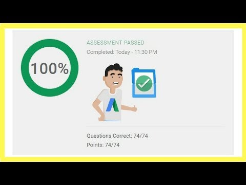 Google AdWords Video Certification Advertising Assessment Exam Answers ✅ 2018 ✅ 100% Correct ✅