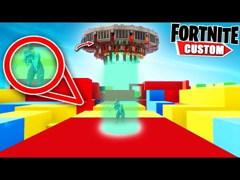 Fortnite EXTREME UFO Escape DEATHRUN.. Can you ESCAPE the UF