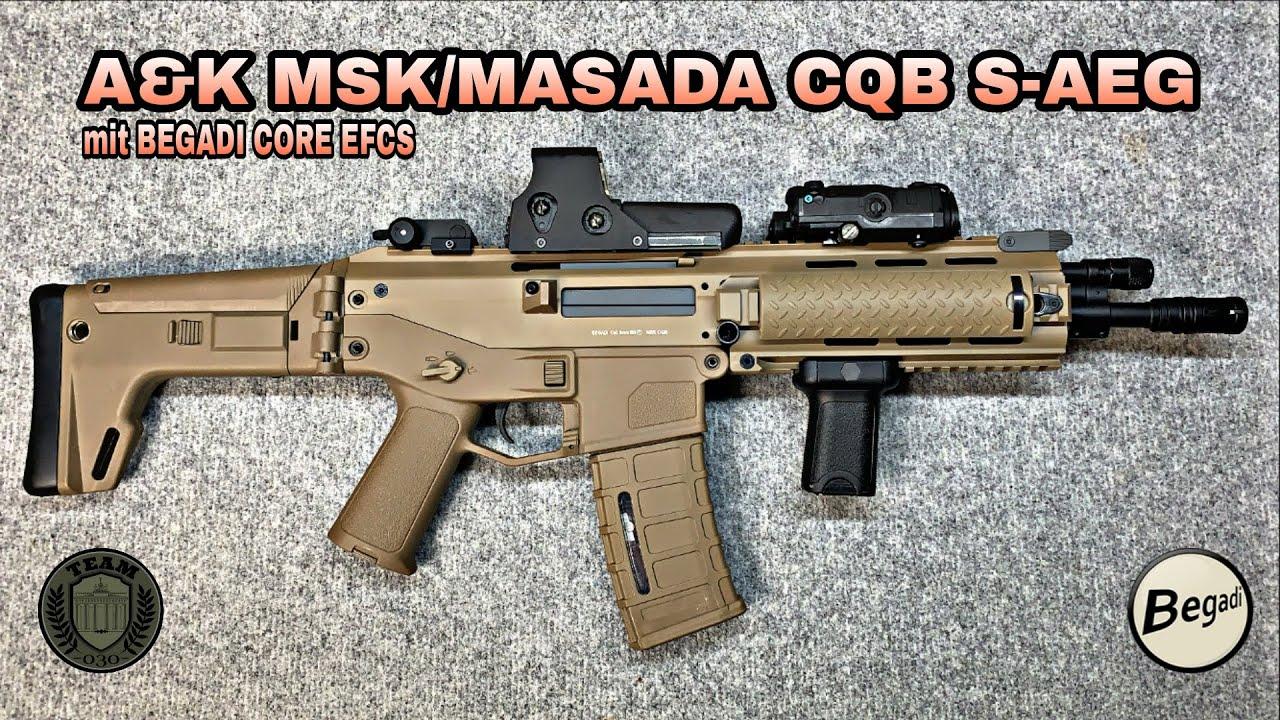 A&K MSK/MASADA CQB S-AEG Tan mit CORE EFCS