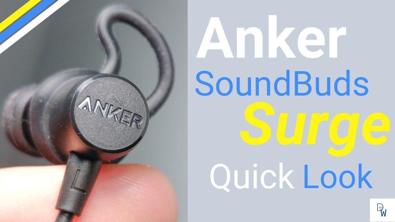 Anker SoundBuds Surge - A Quick Look  4k  - YouTube 44dea47ba5933