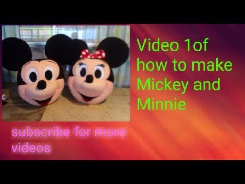How To Make The Mickey And Minnie Costume Step By Step, A Foam Rubber Sphere For Several Characters.