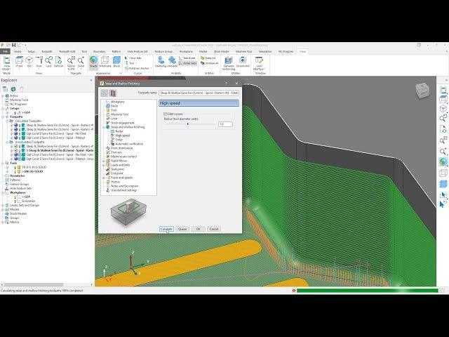 Model Filleting - PowerMill 2020