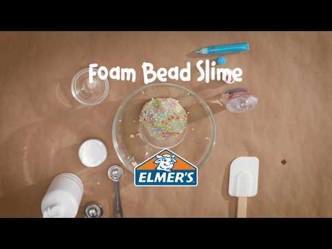 Download Youtube: Elmer's Glue DIY, KID FRIENDLY Foam Bead Slime!