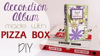 Album dalla scatola della Pizza - DIY Accordion Album from Pizza Box