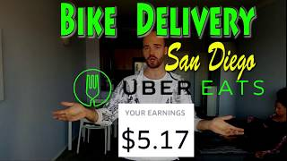 UBER Bike(Bicycle) Delivery in San Diego, California