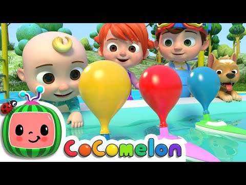 Balloon Boat Race  ABCkidTV Nursery Rhymes & Kids Songs