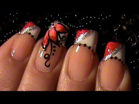 Painting my dominant hand french manicure how to flower nail art painting my dominant hand french manicure how to flower nail art tutorial prinsesfo Gallery