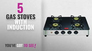 Top 10 Gas Stoves With Induction [2018]: Prestige GT 04 SS AI Glass Top Gas Tables