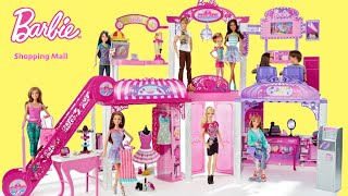 Barbie shopping Mall Supermarket Unboxing Set Up Play Pusat perbelanjaan لعبة باربي للتسوق