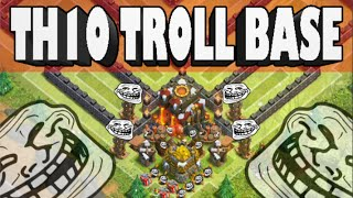 Clash of Clans - The BEST Town Hall 10 Troll Base! New Trolling in Champions Base