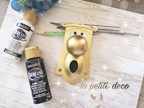 alice door knob resin diy