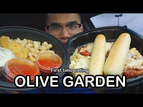 First time eating OLIVE GARDEN