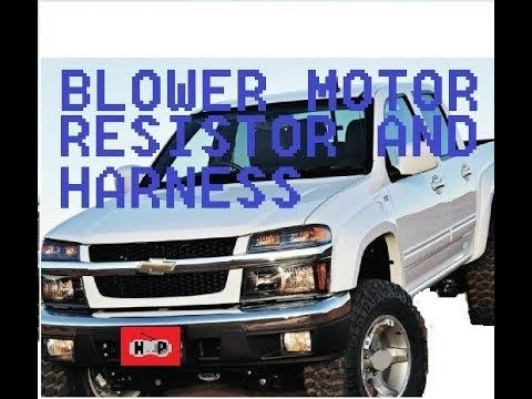 2009 holden colorado wiring diagram briggs and stratton charging system chevy blower motor resistor harness replacement youtube