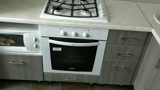 Скачать Кухня угловая МДФ ПВХ сандал белый и серый