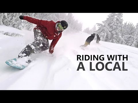 Make Riding With A Local - Snowboarding at Mt Bachelor Snapshots
