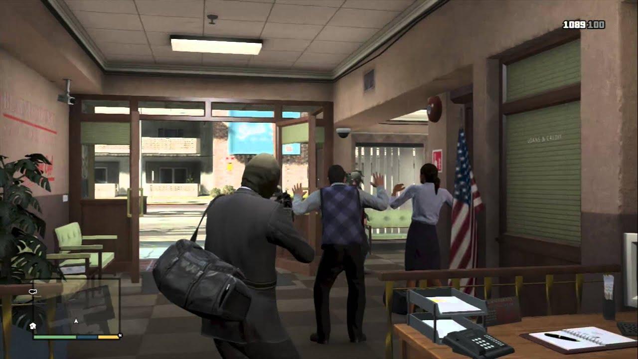 gta v online heist bank robbery