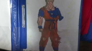 Mis Dibujos de dbz naruto spiderman tokyo ghoul y deadpool